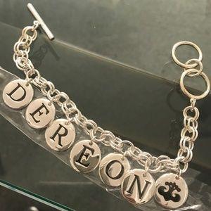 Beyoncé Signature Charm Bracelet Silver Dereon NWT